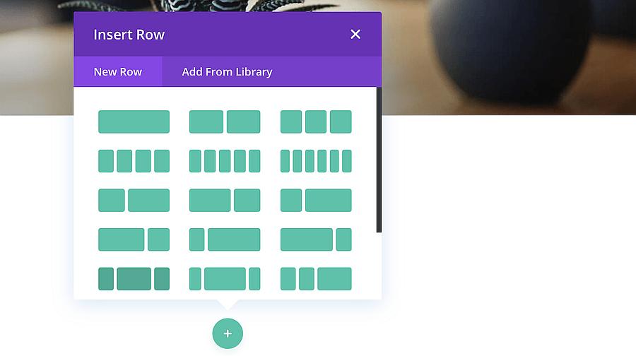 Divi's column options