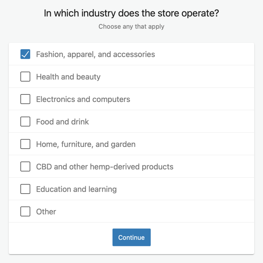 select your store industry