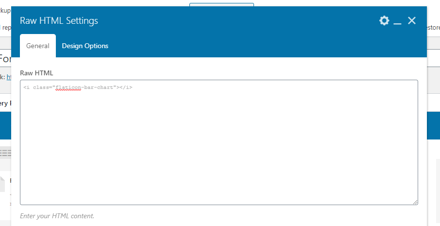 add icon code to page