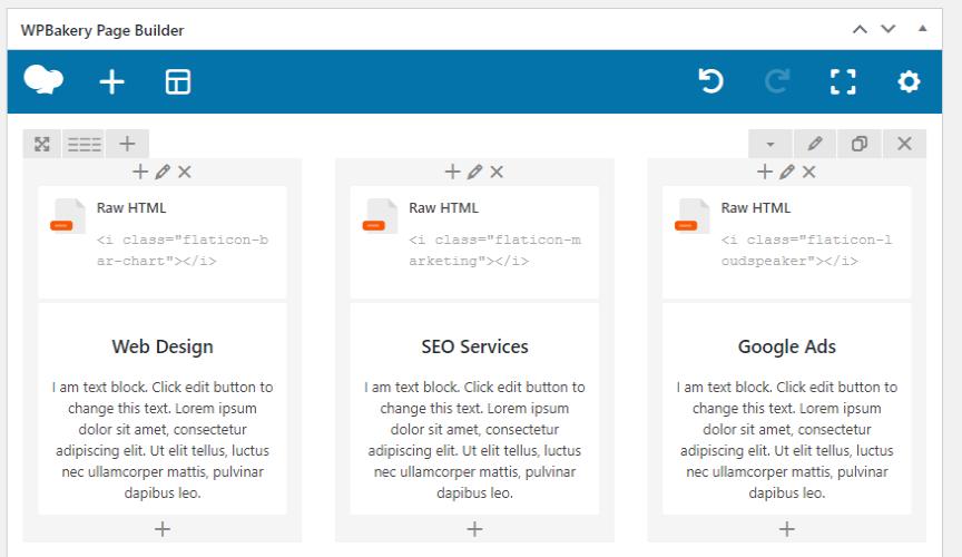 flaticon page builder example