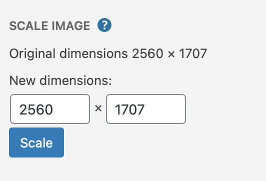 changing image dimensions