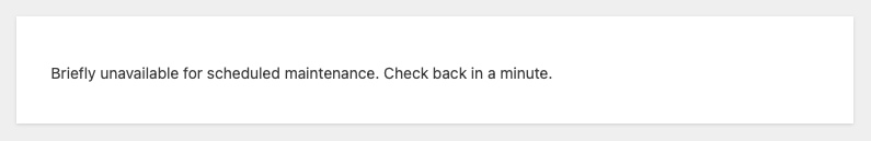website maintenance mode